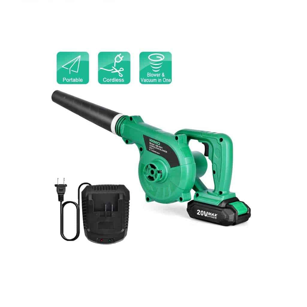 Cordless Leaf Blower - KIMO 20V Lithium 2-in-1 Sweeper