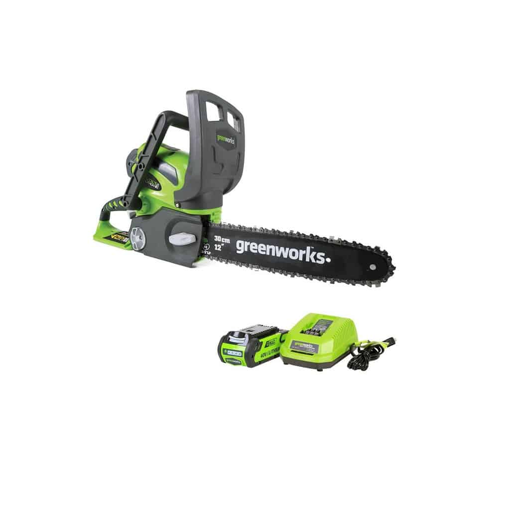 featured Greenworks 12-Inch 40V Cordless Chainsaw, 2.0 AH Battery Included 20262