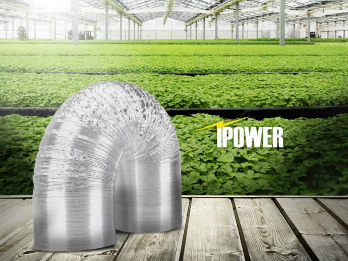 Easy to Connect iPower 4 Inch 25 Feet Flexible Aluminum Ducting for Heating Cooling Ventilation and Exhaust