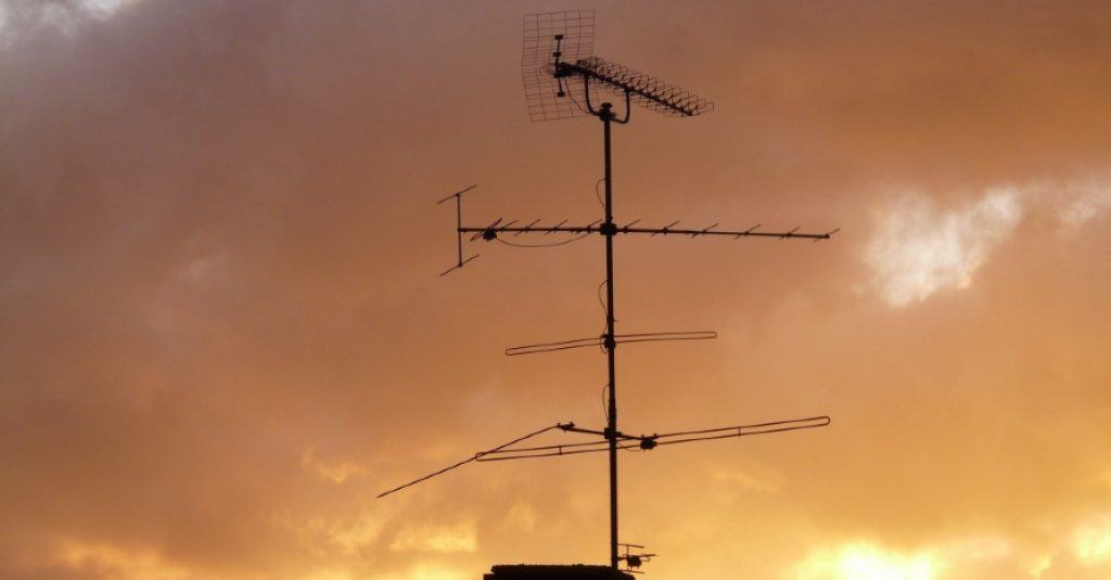 TV antenna at roof