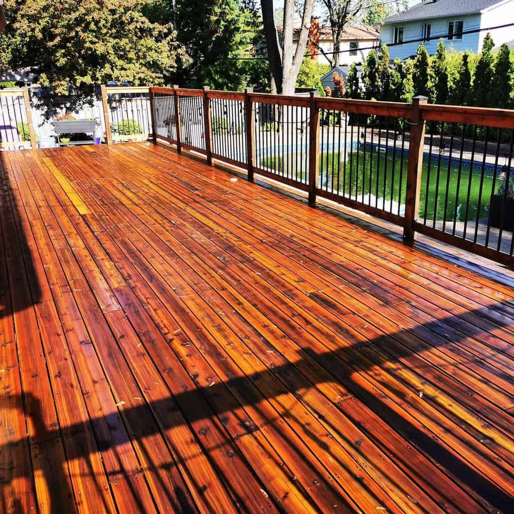 Porch after paint Ready Seal 512