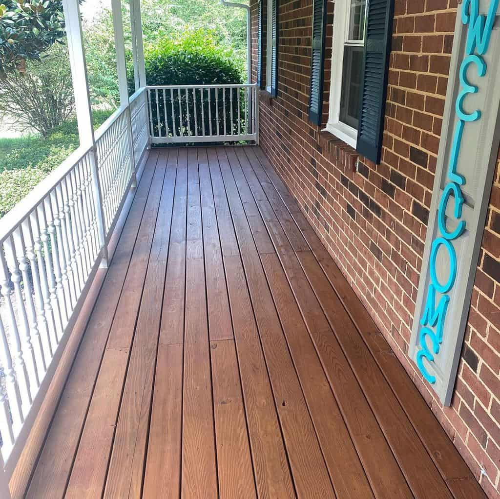 Porch after painting Thompson Waterseal