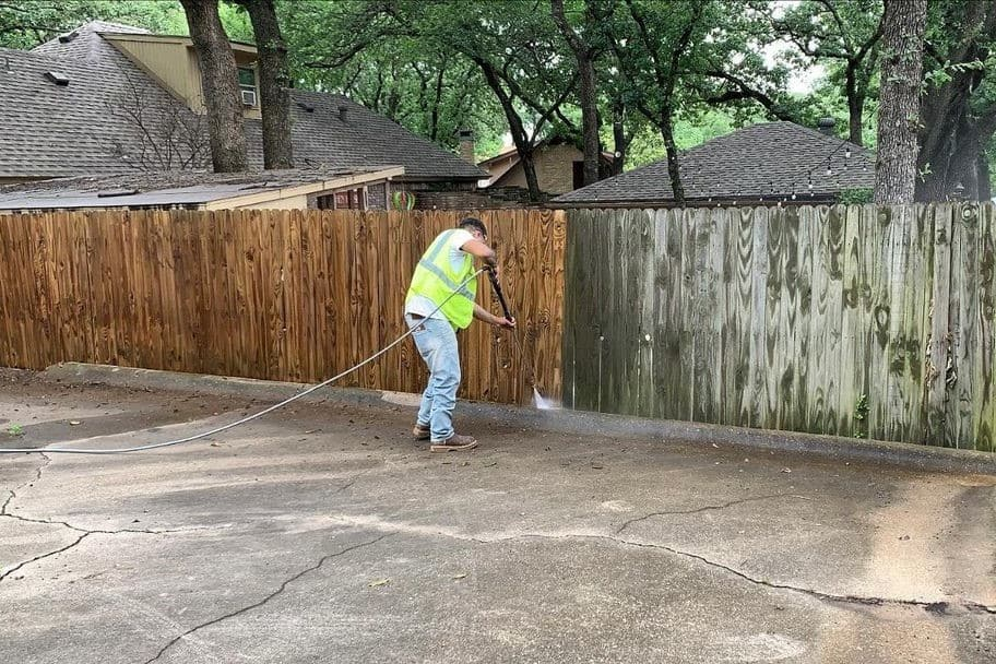 Step 1: Clean the fence